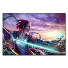 Episode VIII The Last Jedi Art Silk Or Canvas Poster