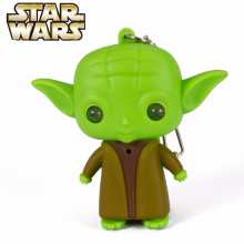 Yoda Keychain With Sound And Led Flashlight