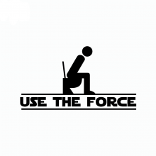Star Wars USE THE FORCE Funny WC Toilet Sticker
