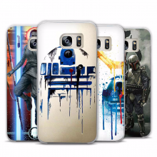 Star Wars Transparent Phone Case Cover for Samsung Galaxy S3 S4 S5 S6 S7 Edge Plus Mini